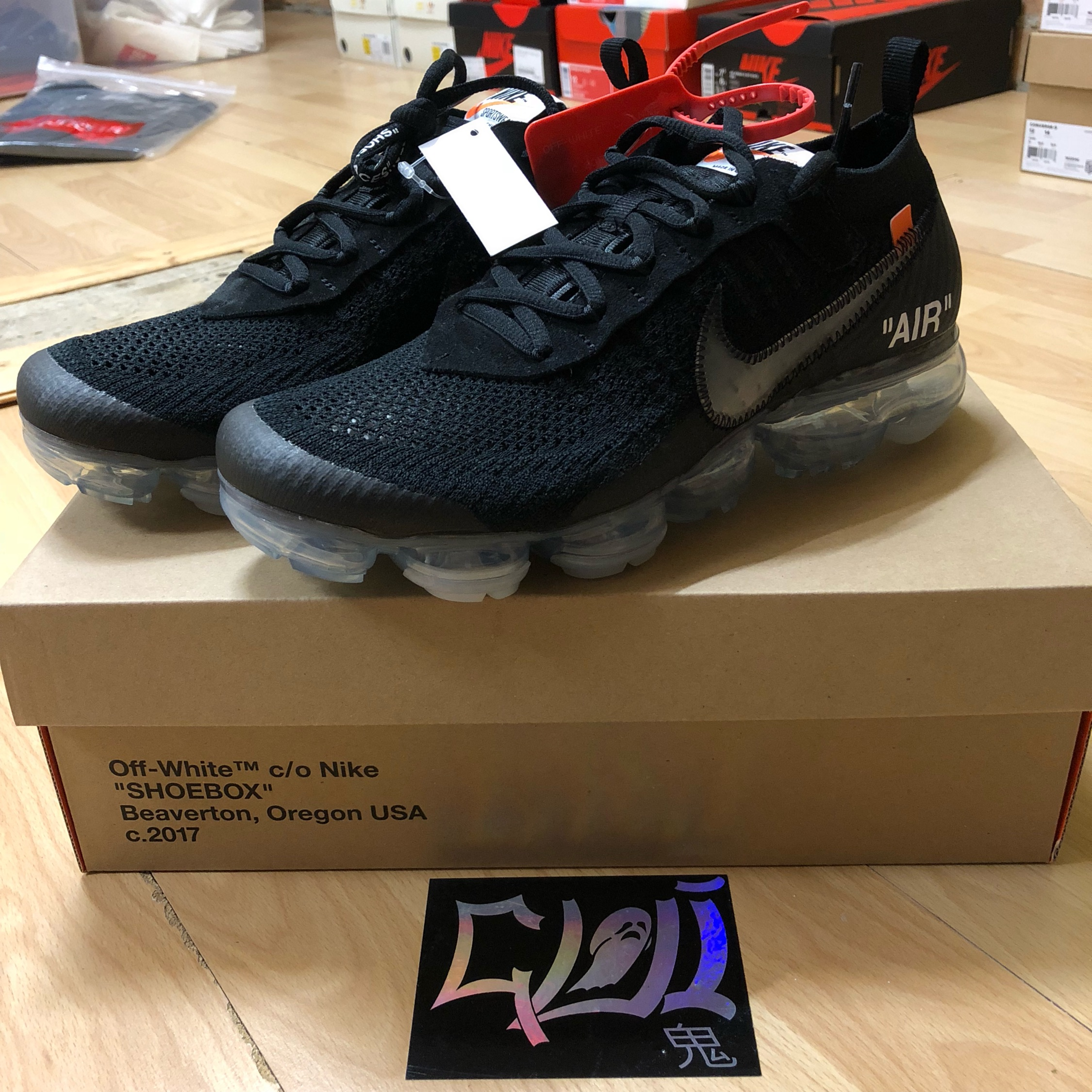 huge selection of 5867e 42224 Off White X Nike Air Vapormax Black 2.0