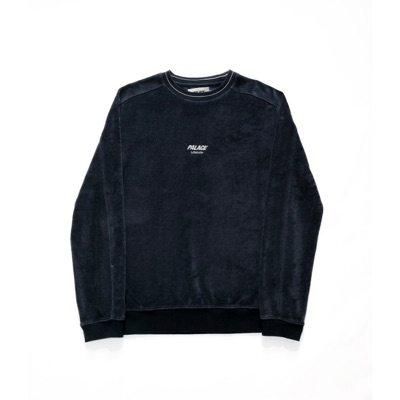 Palace Velour Crew Blue Size Small