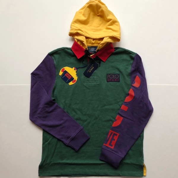 Polo Ralph Lauren Snow Beach Hooded Rugby Polo