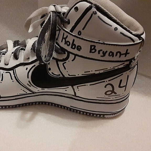 Air Force 1 High Top Black And White Customized