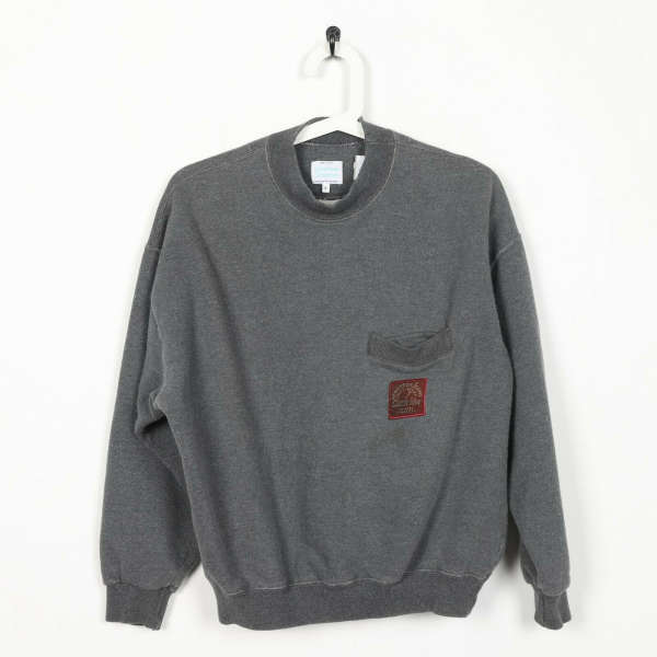 Vintage UNITED COLORS OF BENETTON Roll Neck Sweatshirt Jumper Grey   Small S