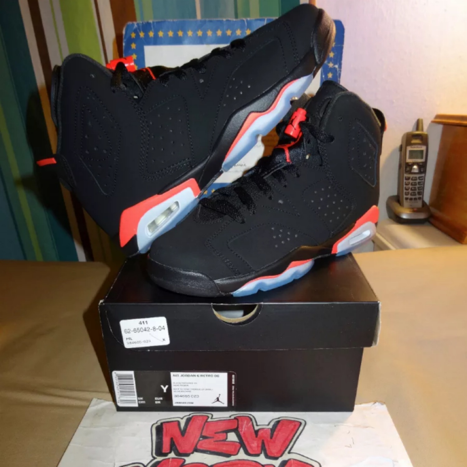 Nike Air Jordan 6 Black Infrared Bg