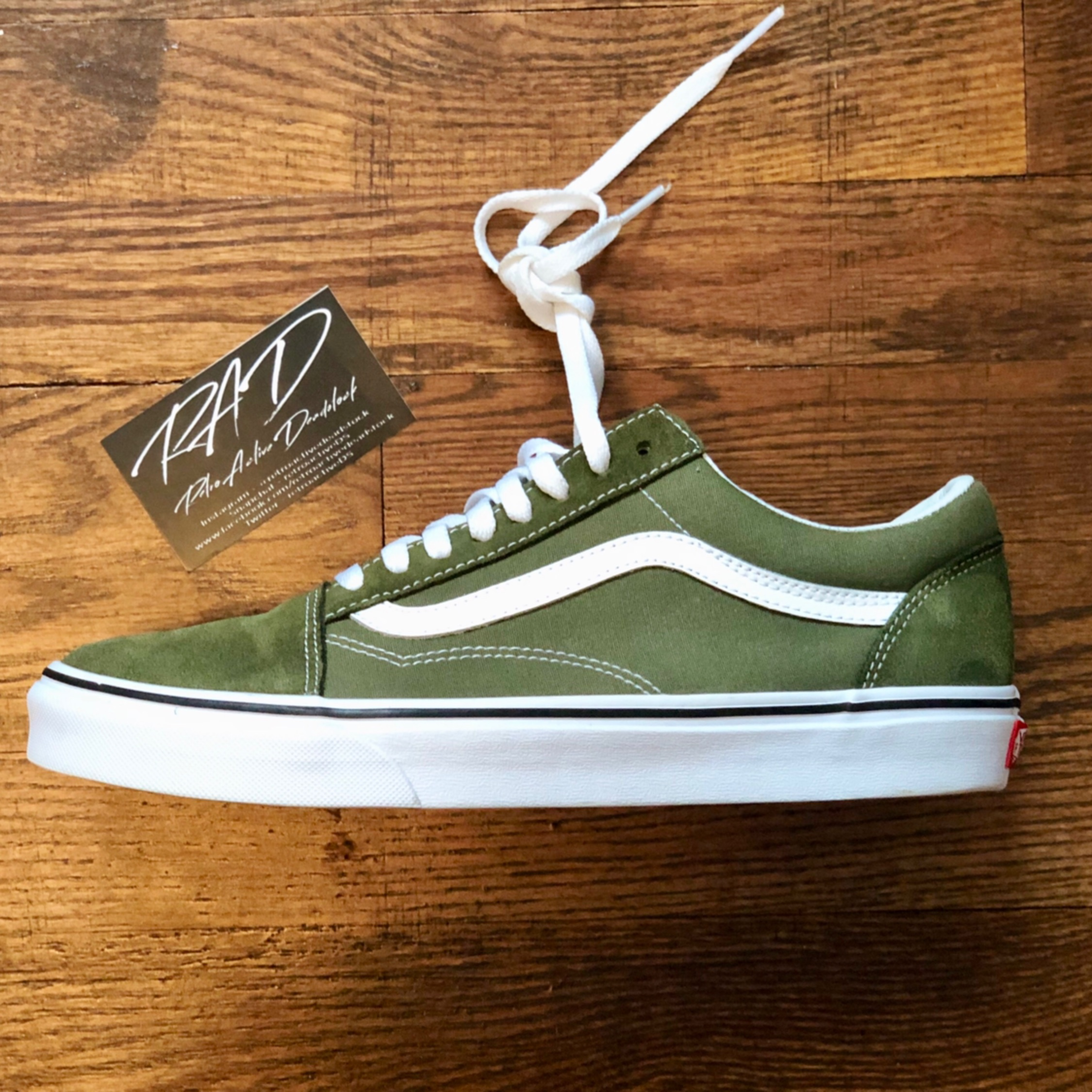 buy good look out for 100% high quality Vans Old Skool Winter Moss / True White Size 10