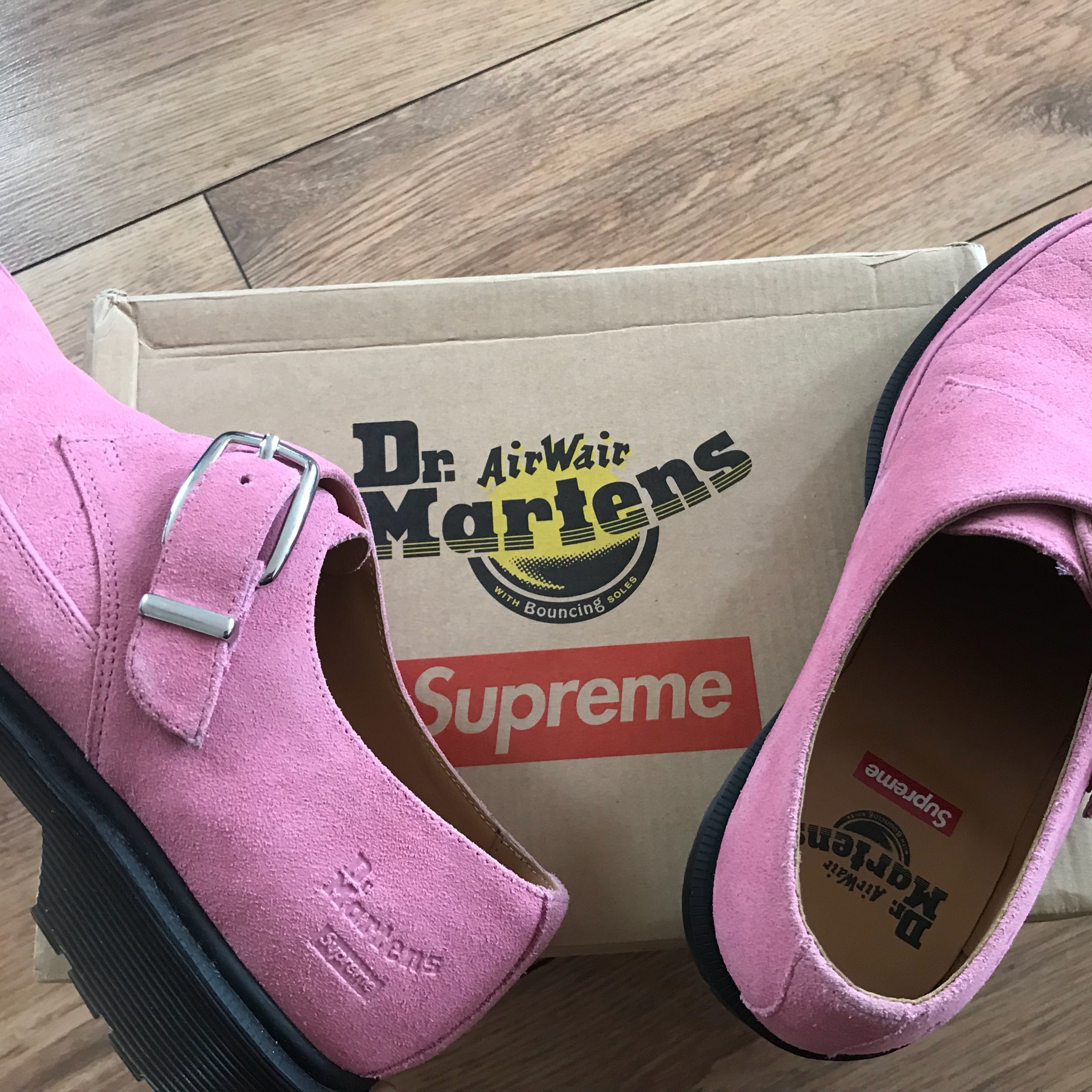 Ss17 Supreme X Dr. Martens Monk Strap Creepers