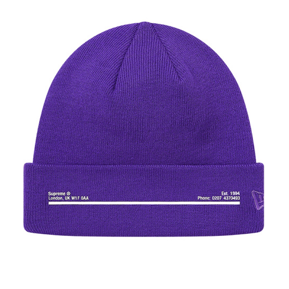 Supreme New Era Shop Beanie Purple