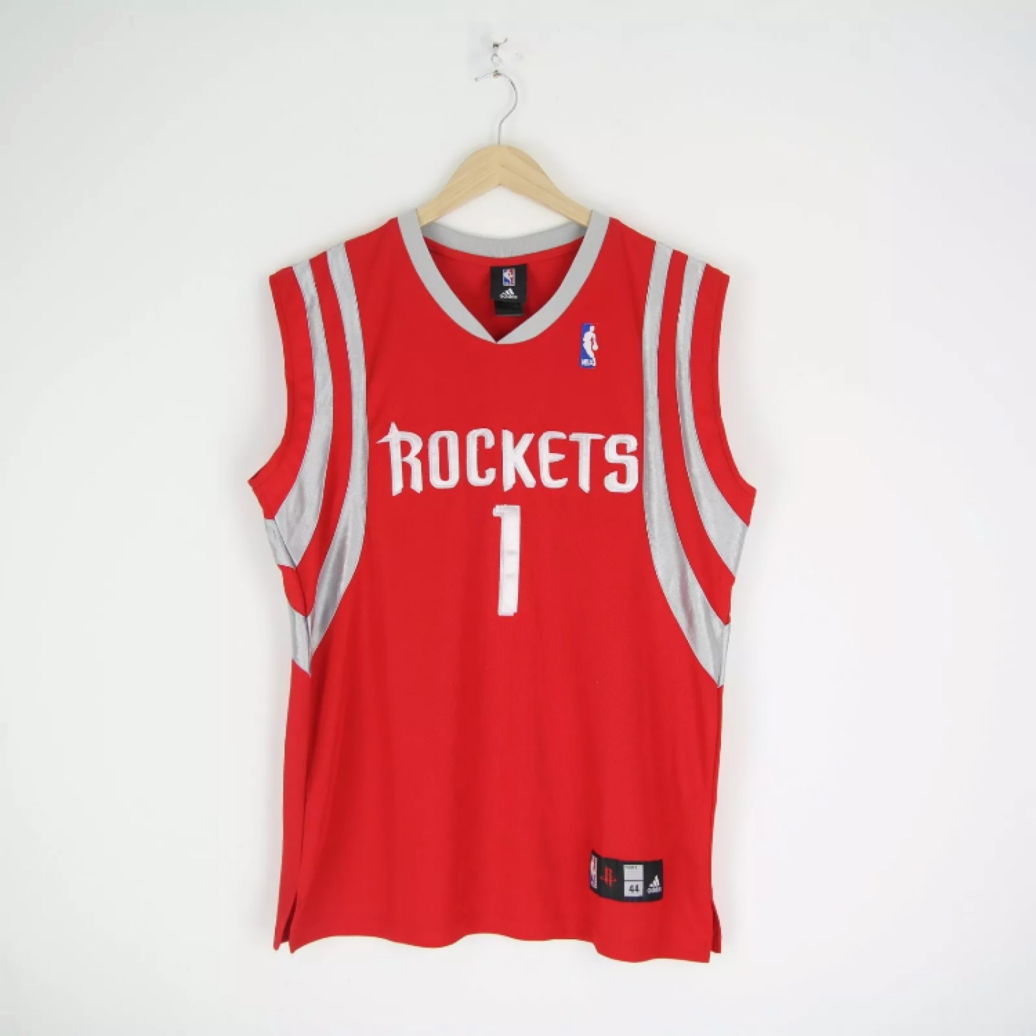 sale retailer 76440 6d567 Adidas Houston Rockets Tracy Mcgrady Jersey Shirt