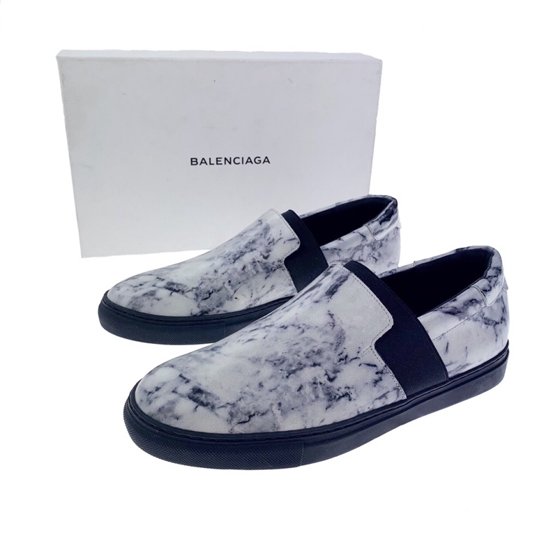 Balenciaga Marble Slip On Trainers