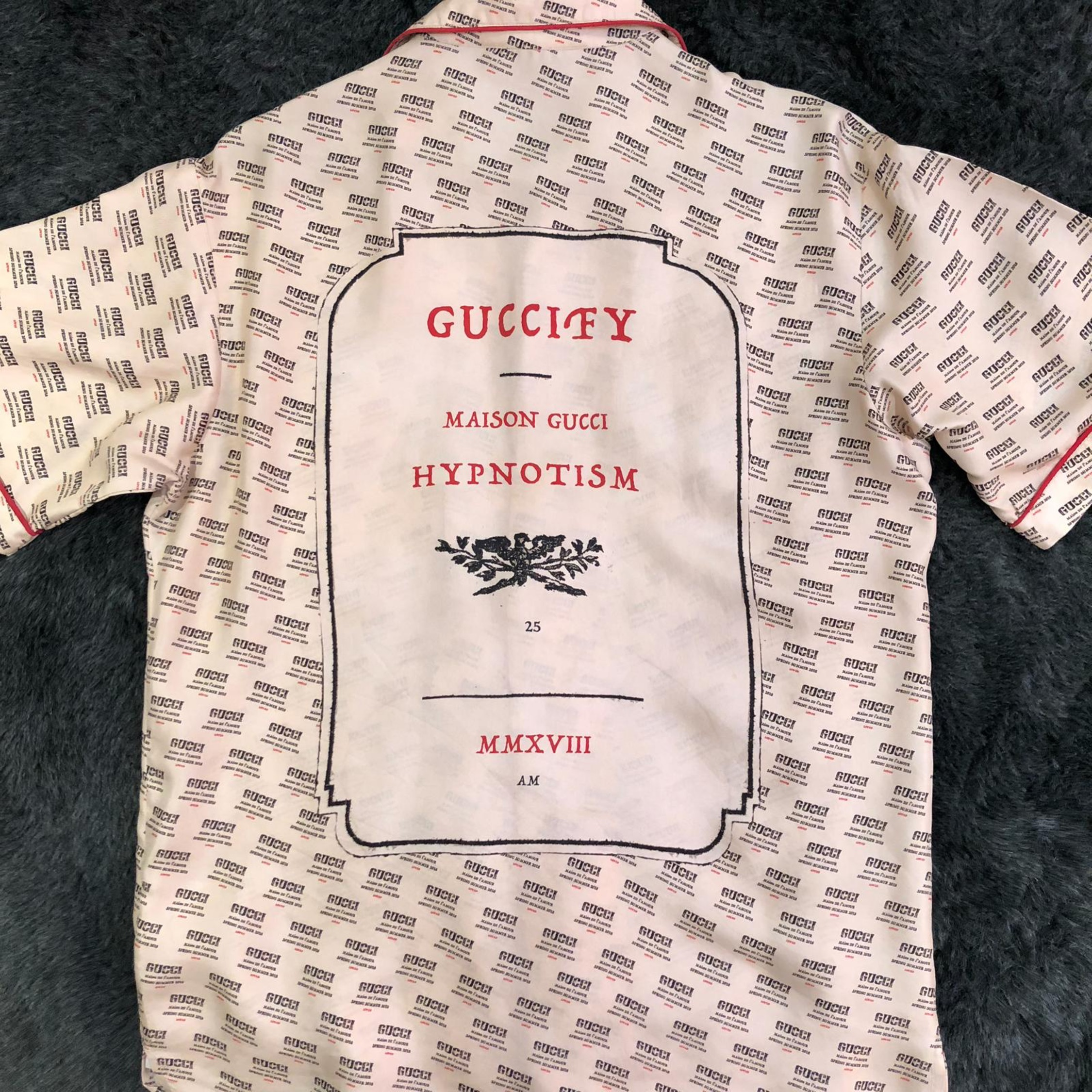 8477adfe Gucci Invite Stamp Bowling Shirt