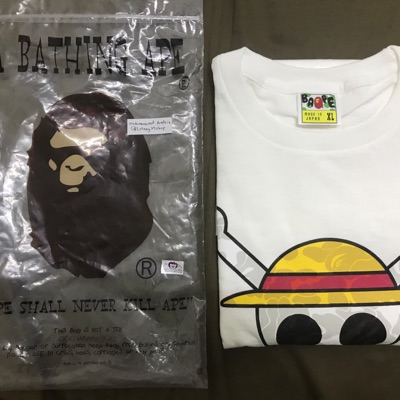 Bape X One Piece 2012 Jolly Roger Collection