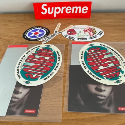 Supreme Scratch Box Logo Sticker Bundles Fw19 Ss19