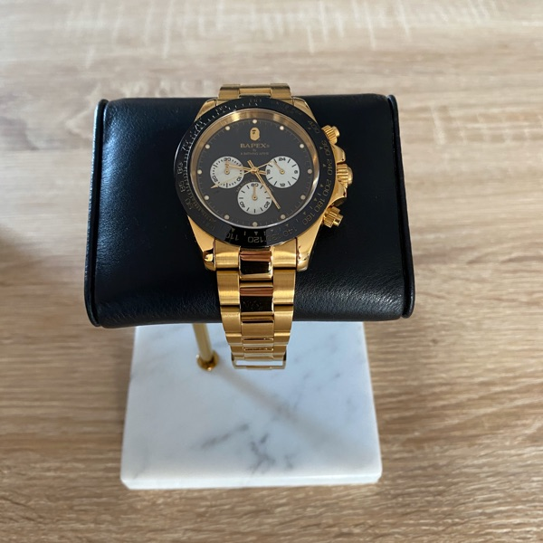 BAPE Type 3 Bapex Watch Gold