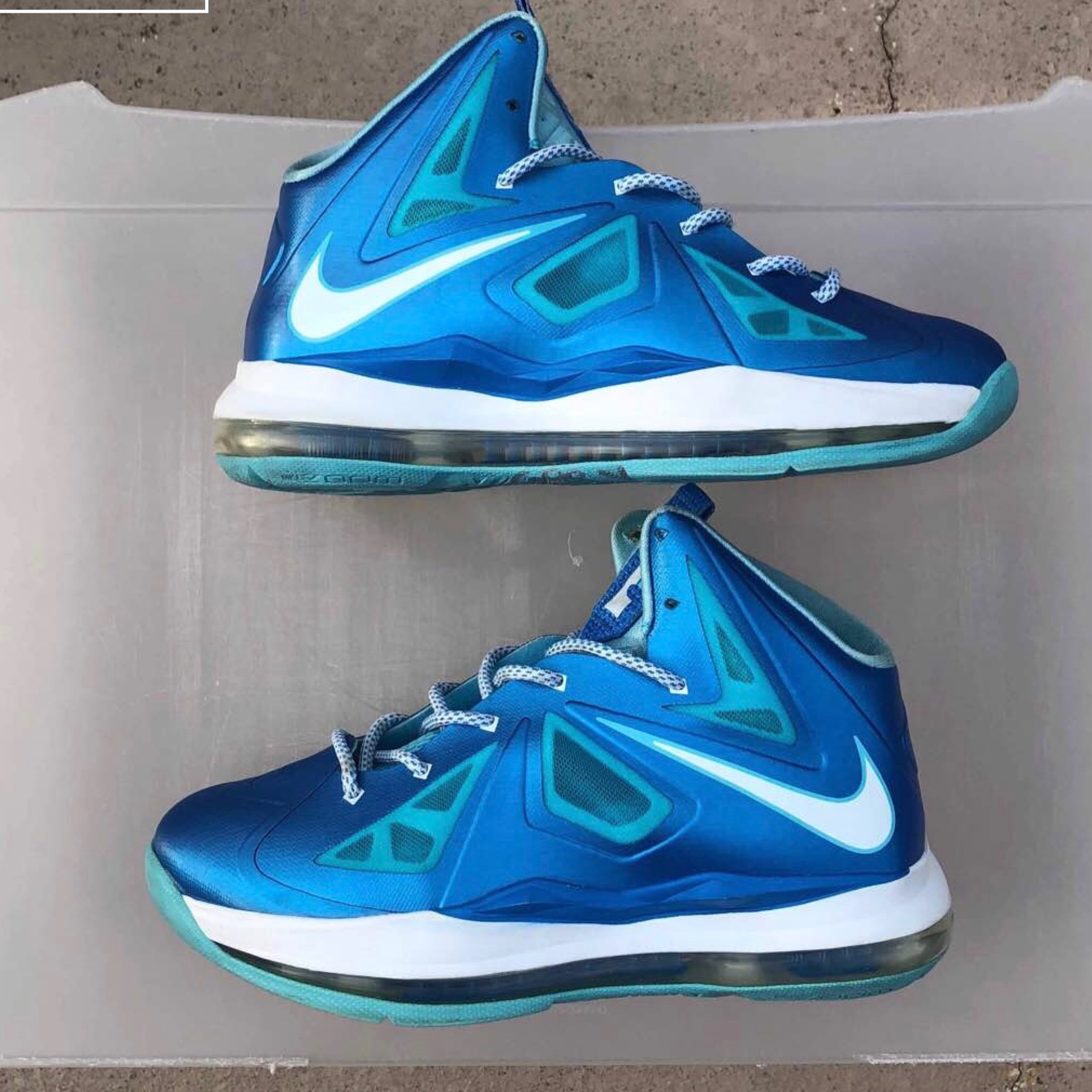 "55e094beffb3 Lebron 10 Gs ""Blue Diamond"""