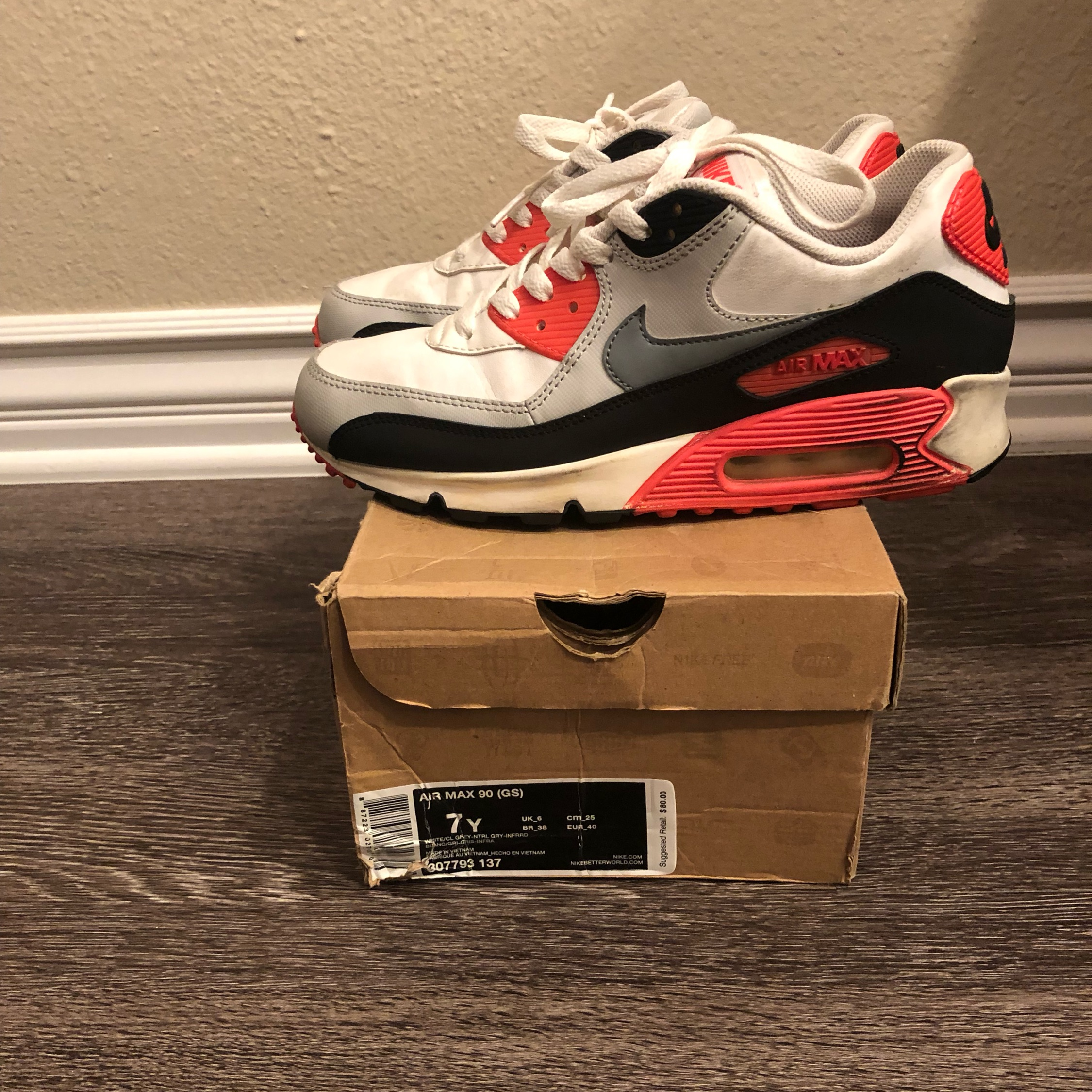 Air Max 90 Infrared Size 7 2012
