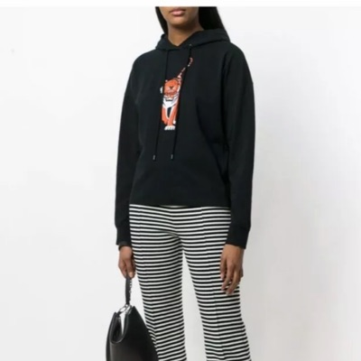 Kenzo Paris Womens Black Real Hoodie