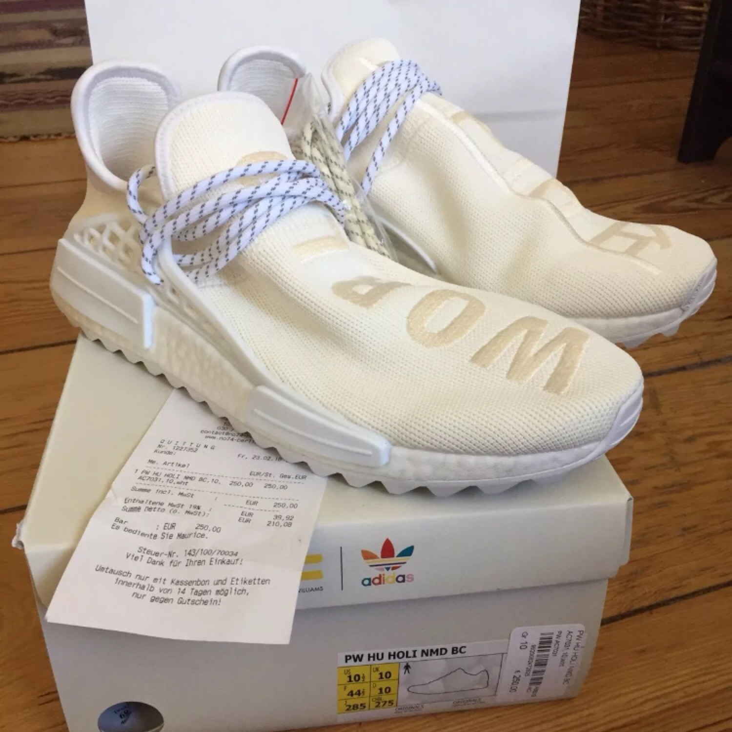 save off 3bac7 93023 Adidas Nmd Human Race Blank Canvas Us 10.5