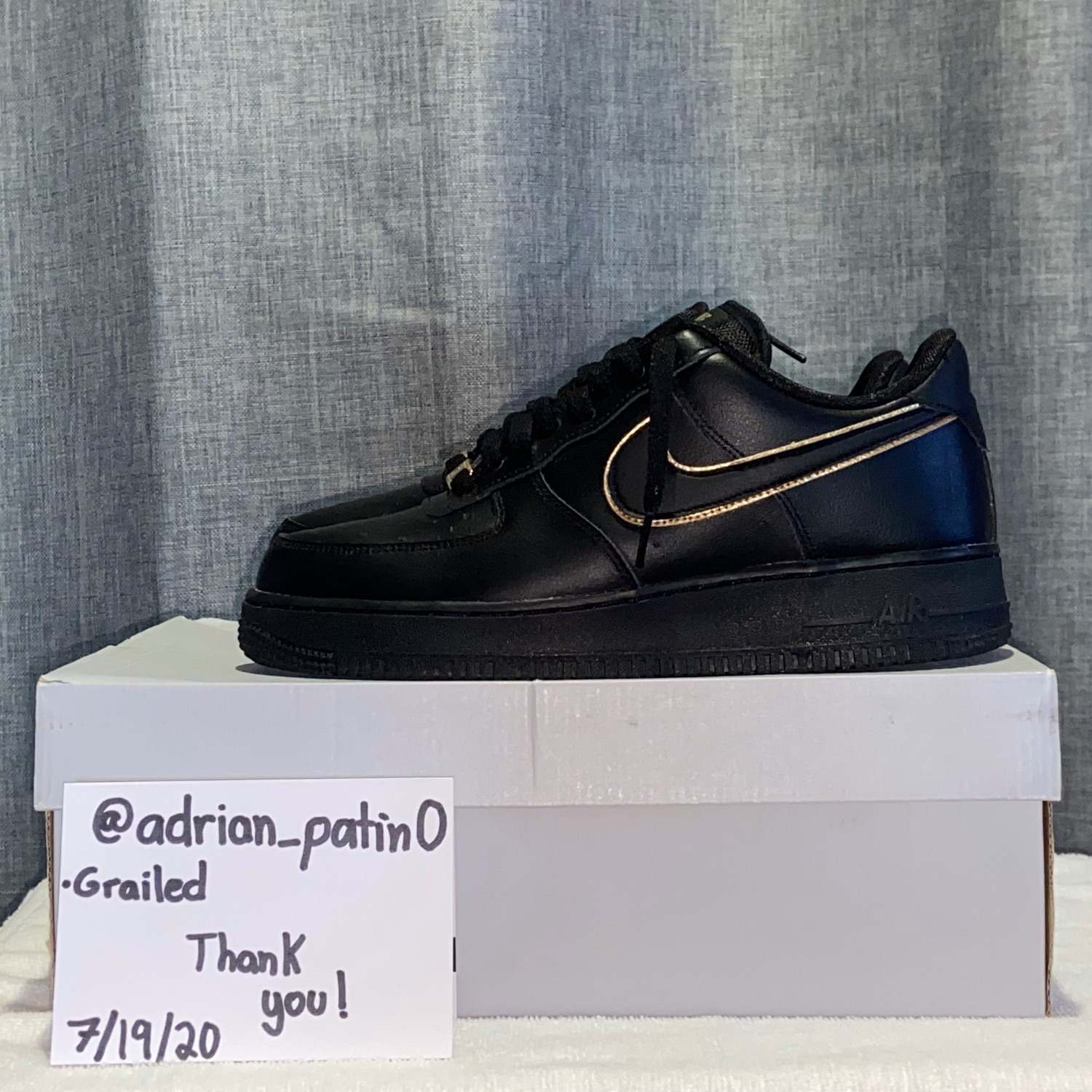 Women S Air Force 1 07 Essential Black Gold