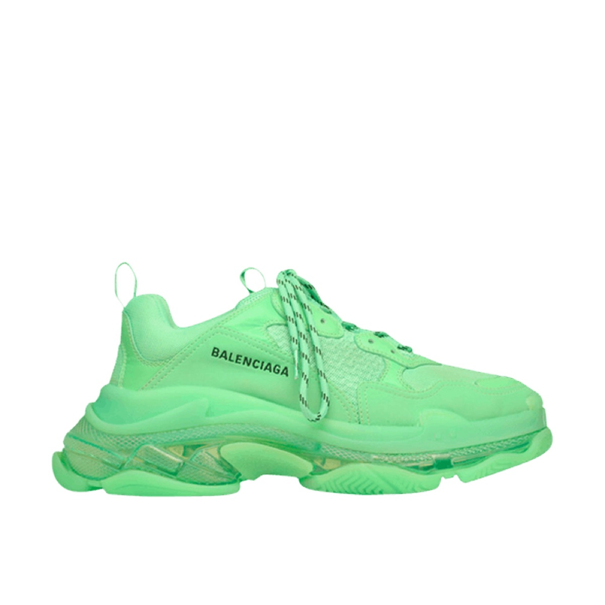 Balenciaga Triple S Neon Green Clear Sole