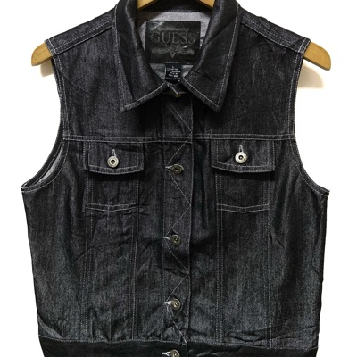 Guess Sleeveless Denim Jacket Size L For Boys