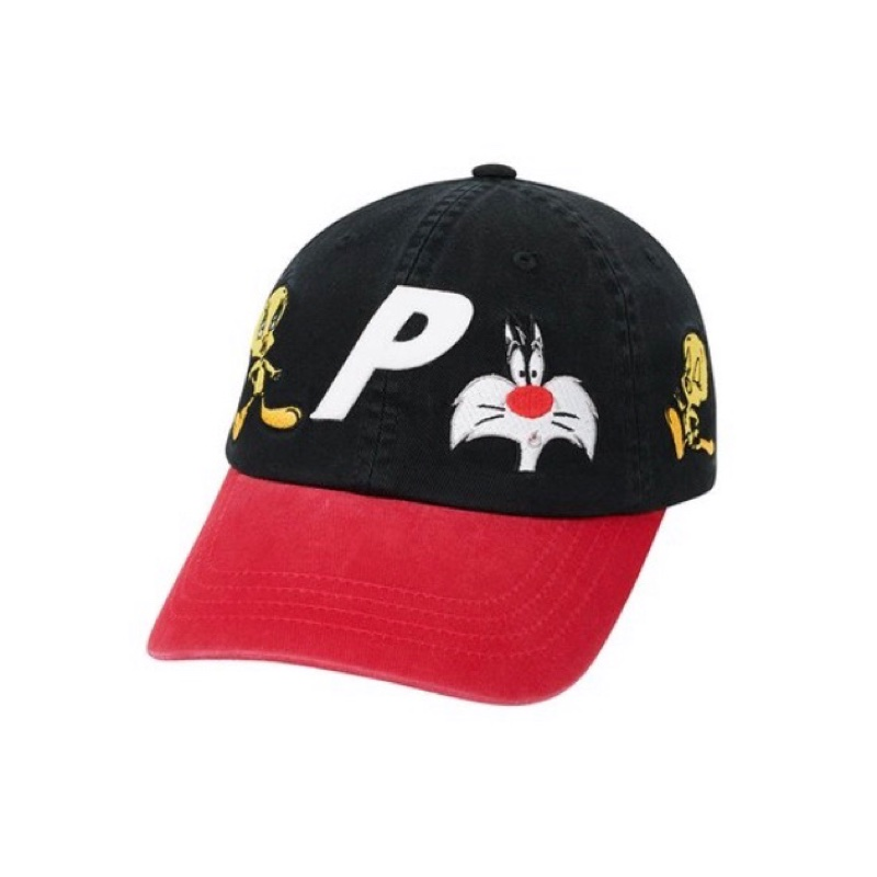Palace X Looney Tunes Tweety P 6-Panel Black/Red