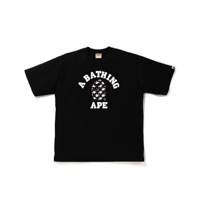 Bape Sta Pattern College Relaxed Fit Tee