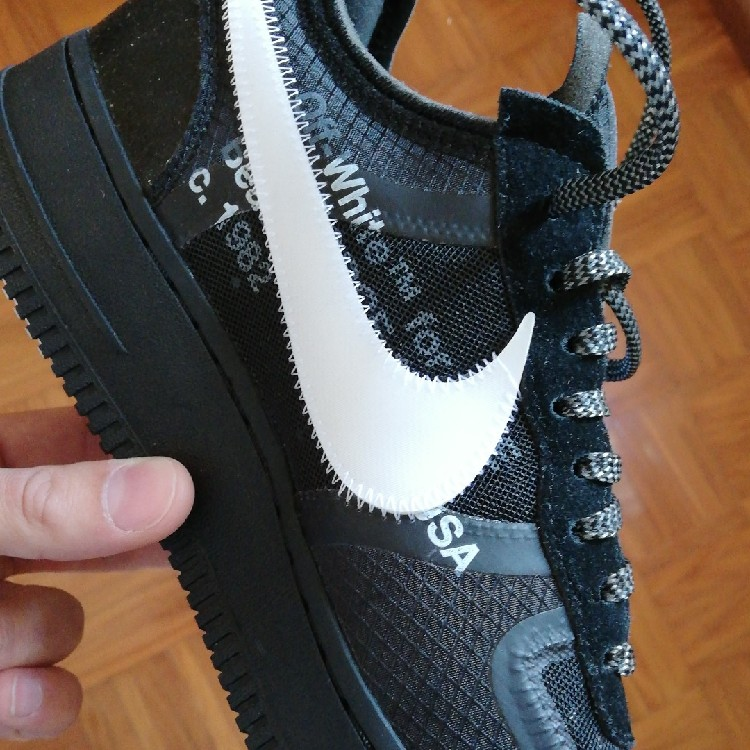 designer fashion sports shoes timeless design Off-White x Nike Air Force 1 Low Black DS 44 EU 10 US