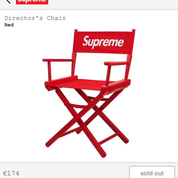 Supreme Director'S Chair Red Ss19