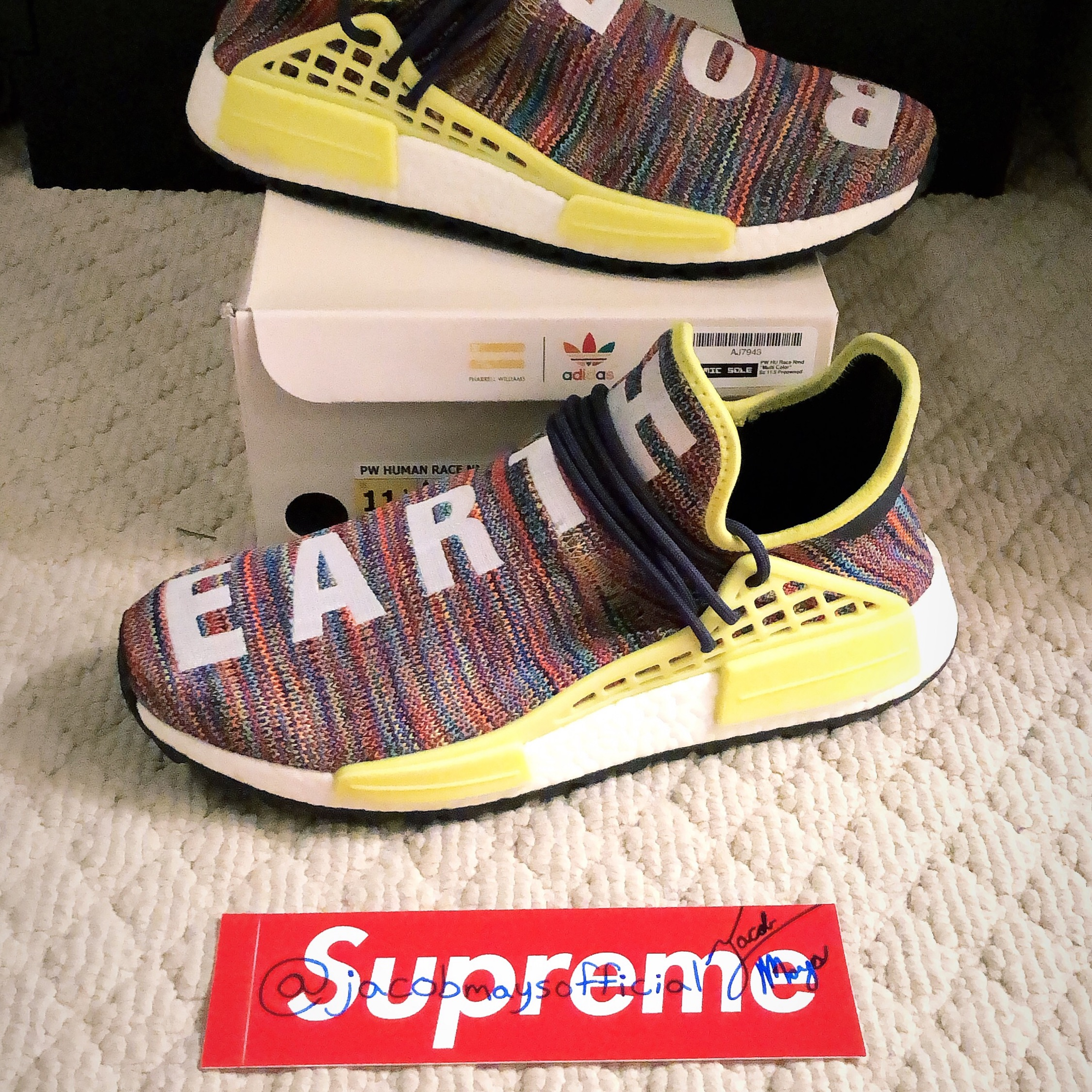 timeless design 036fa 395bf Adidas Human Race Nmd Multicolor Us Size 11.5