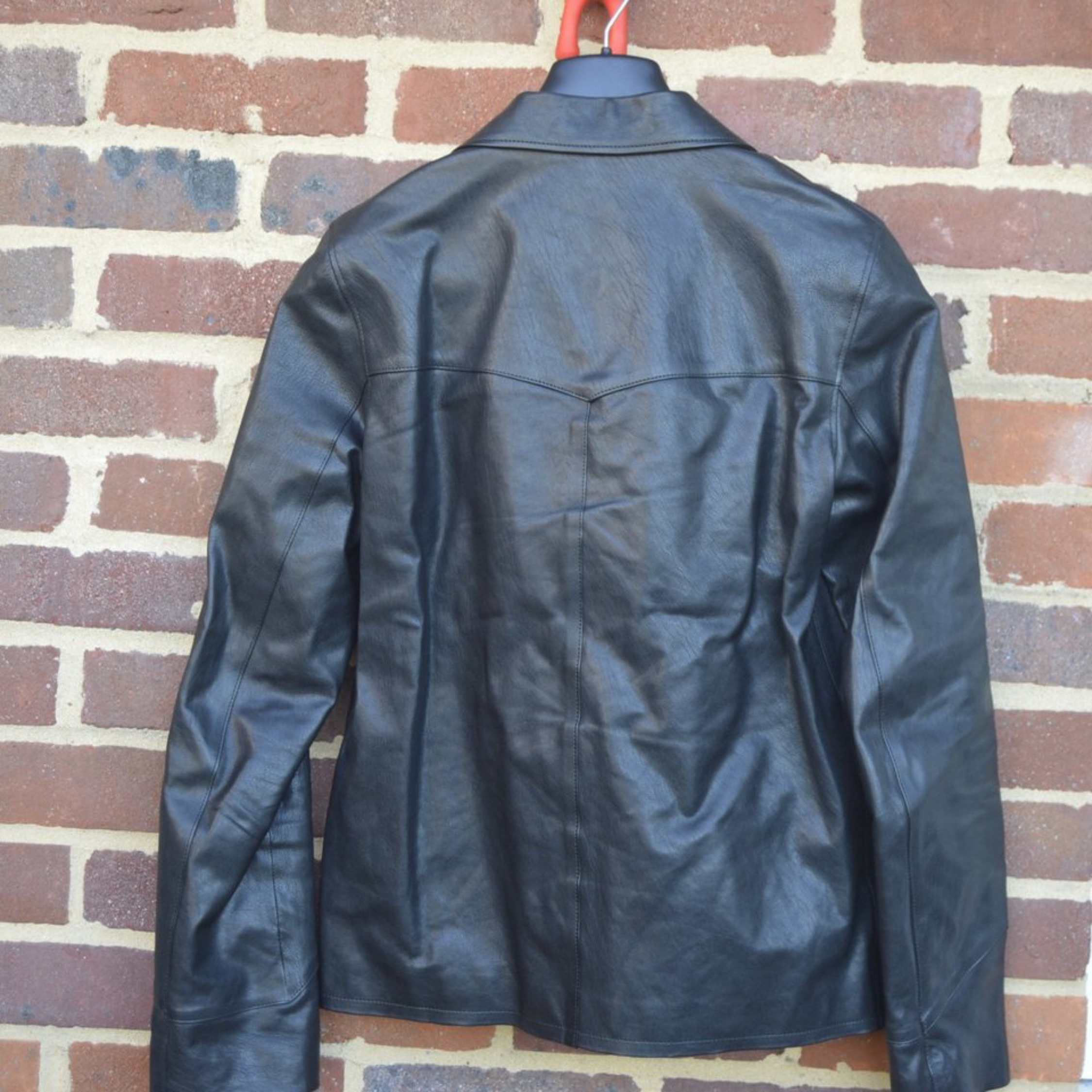 1e17d80a5 Saint Laurent Paris Black Leather Hunting Jacket