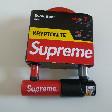 FW15 Supreme x Kryptonite evolution mini 5 bicycle lock