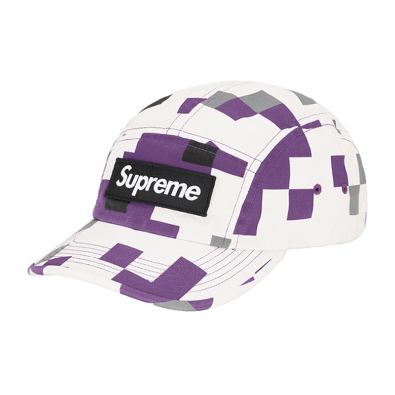 Supreme Military Camp Cap Purple Digi Camo