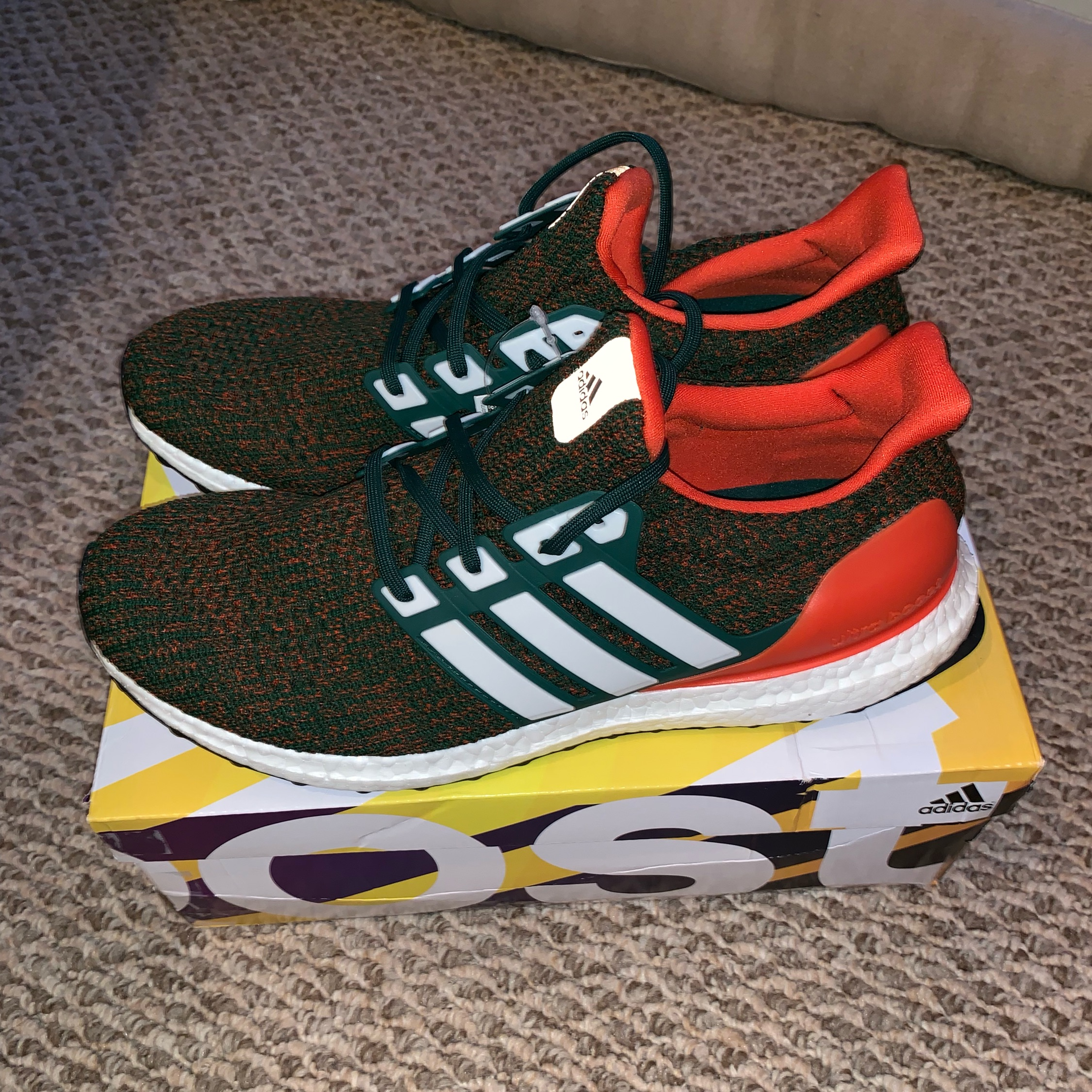 new style 44d5c 44677 Adidas Ultraboost 4.0 Miami Hurricanes