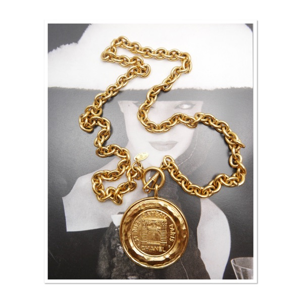 Authentic Chanel Gold Plated Big Charm Necklace