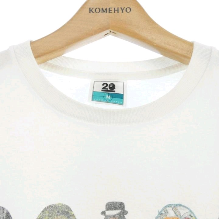 Bape Short Sleeve T White Cotton Printed Front