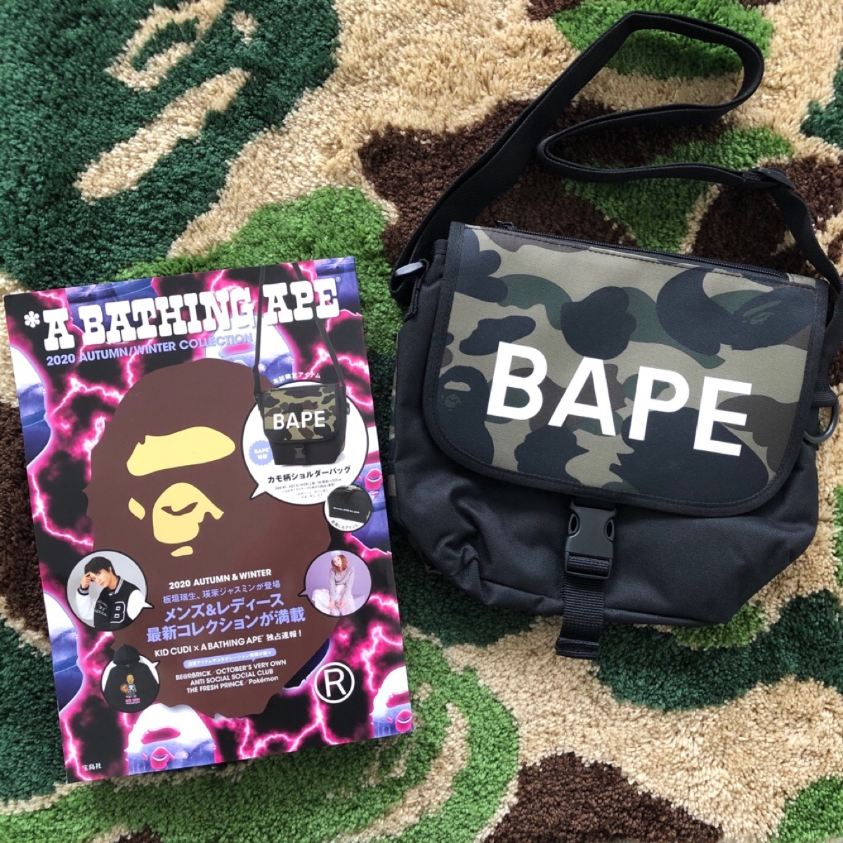 BAPE 1ST CAMO SHOULDER BAG One Size  100% Authentic Brand New Dead-stock In Original Packaging from BAPE JAPAN Will be shipped in 1-2 business days