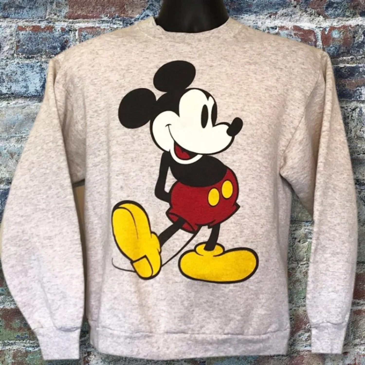Vintage Mickey Mouse Graphic Crewneck Sweater