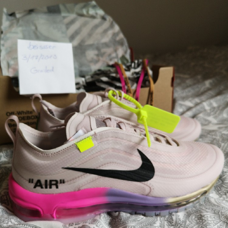 best service 3bb67 448fe Nike OFF WHITE Air Max 97 OG Queen Serena Williams Elemental Rose US8 Ds