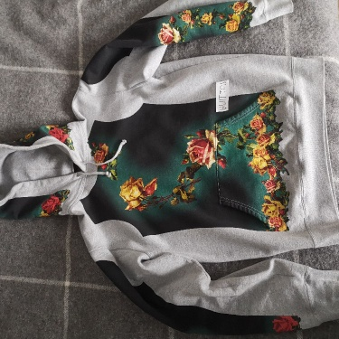 Supreme Jean Paul Gaultier Floral Print Hooded Sweatshirt Heather Grey