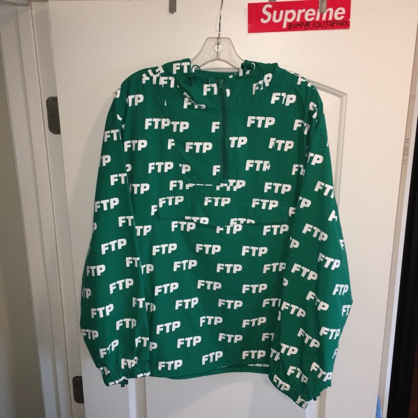 Ftp Green Anorak Pullover