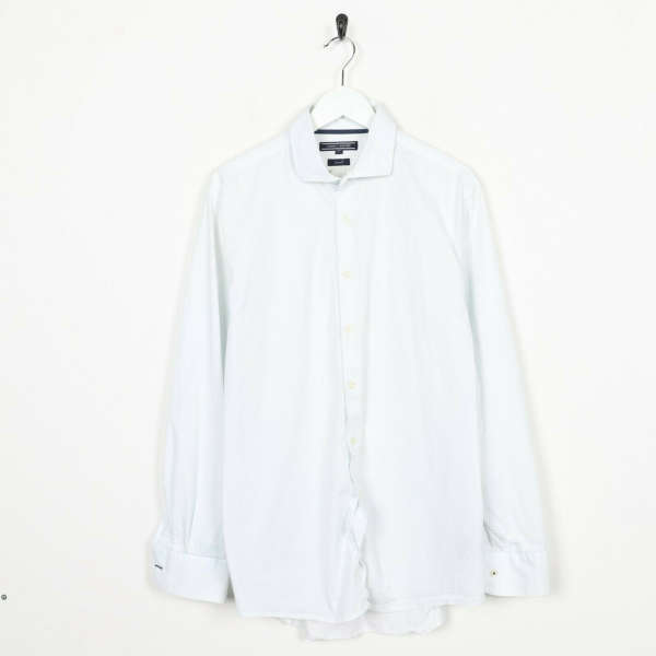 Vintage TOMMY HILFIGER Long Sleeve Shirt White | Large L