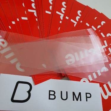 50 Supreme Red Box logo stickers + Free Protection Sleeve Bags