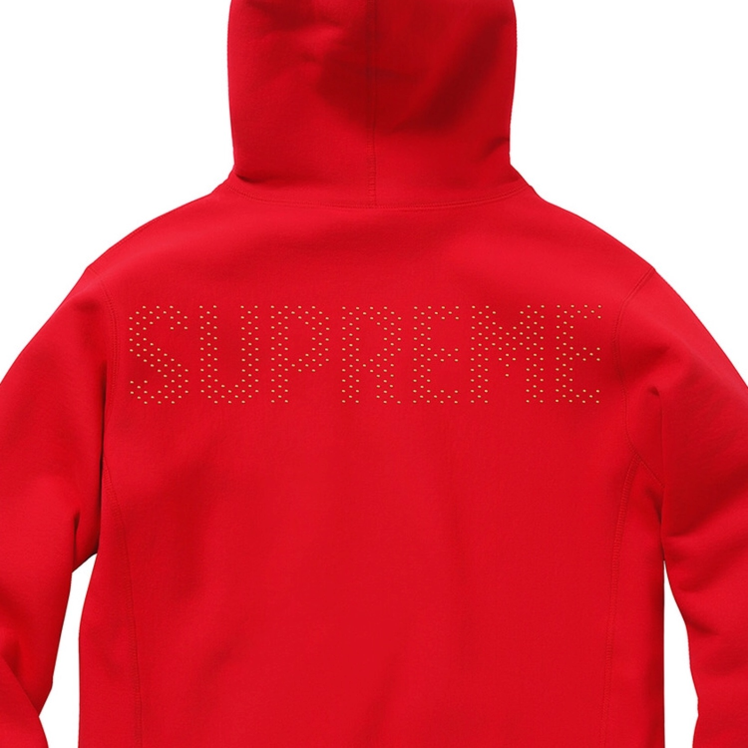 best sneakers shopping hot-selling real Red Supreme Hoodie Metallic Studded Logo