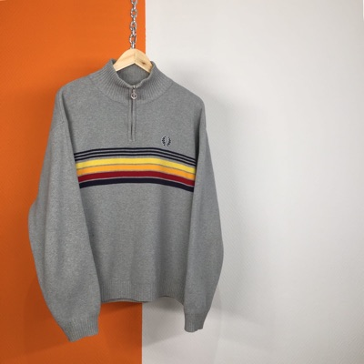 Fred Perry Vintage 90S 1/4 Zip Knit Sweater
