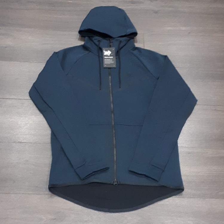 ff233be5791f Deep Jungle Small Mens Nike Tech Fleece Windrunner Full Zip Hoodie