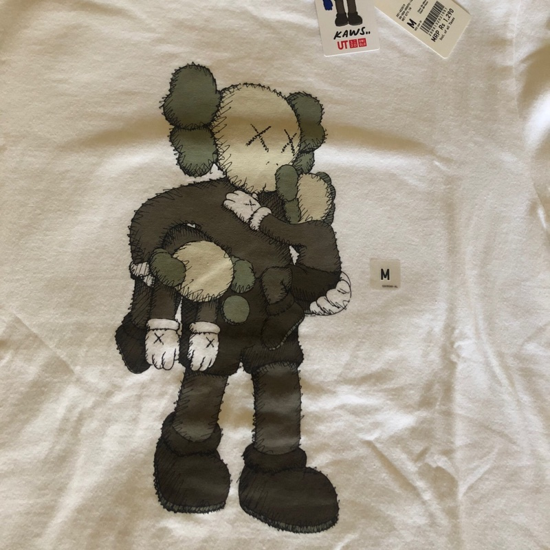 KAWS x Uniqlo BFF Striped Tee (Japanese Sizing) Dark Grey