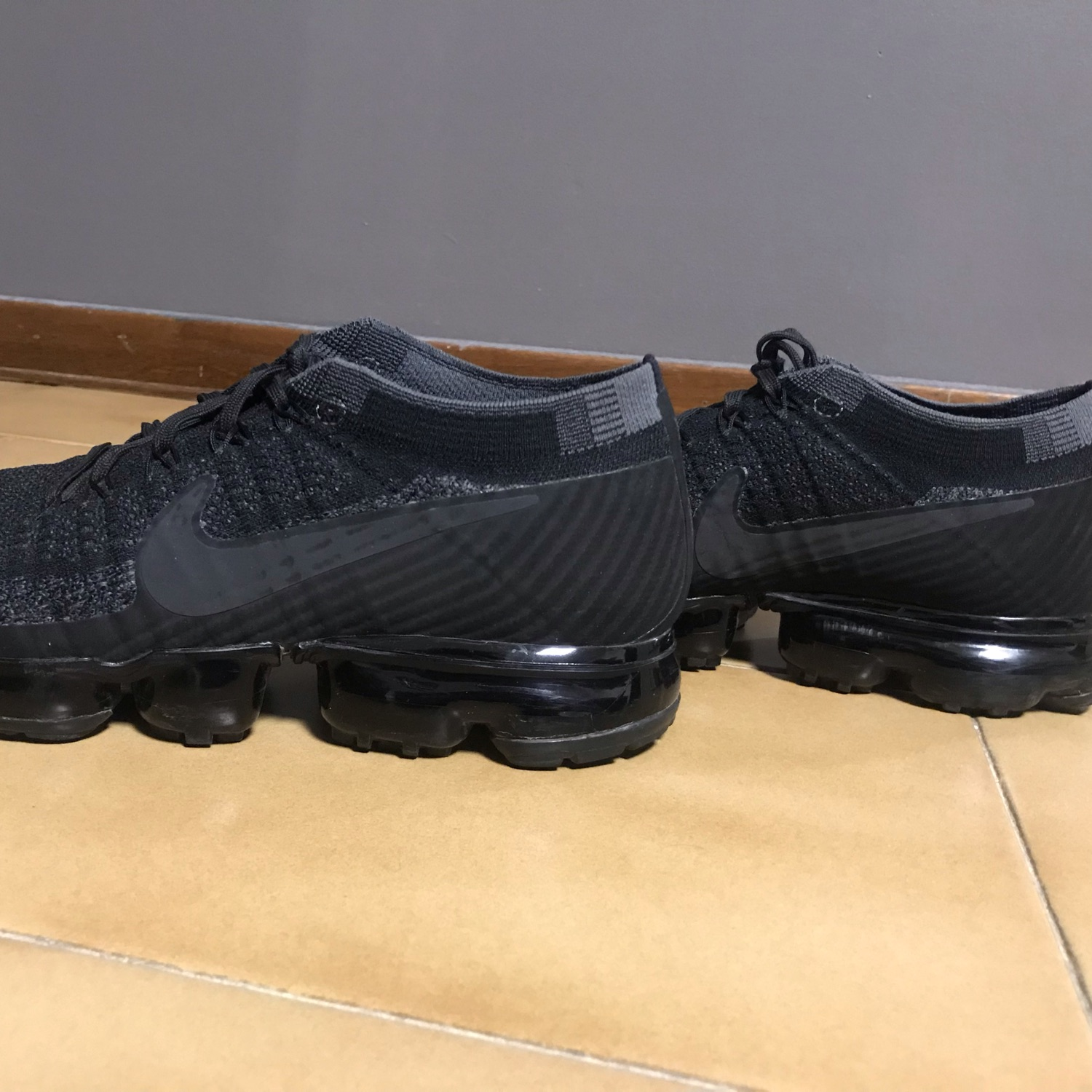 the latest c99ca 5fd98 Vapormax Flyknit Triple Black