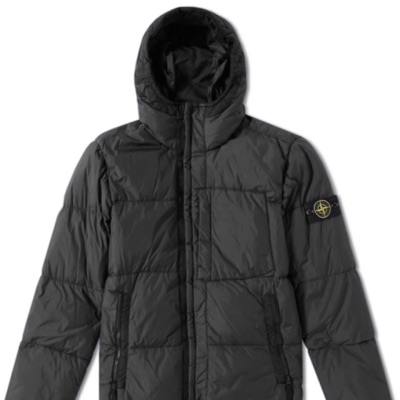 Stone Island Garment Dyed Crinkle Reps Hooded Down