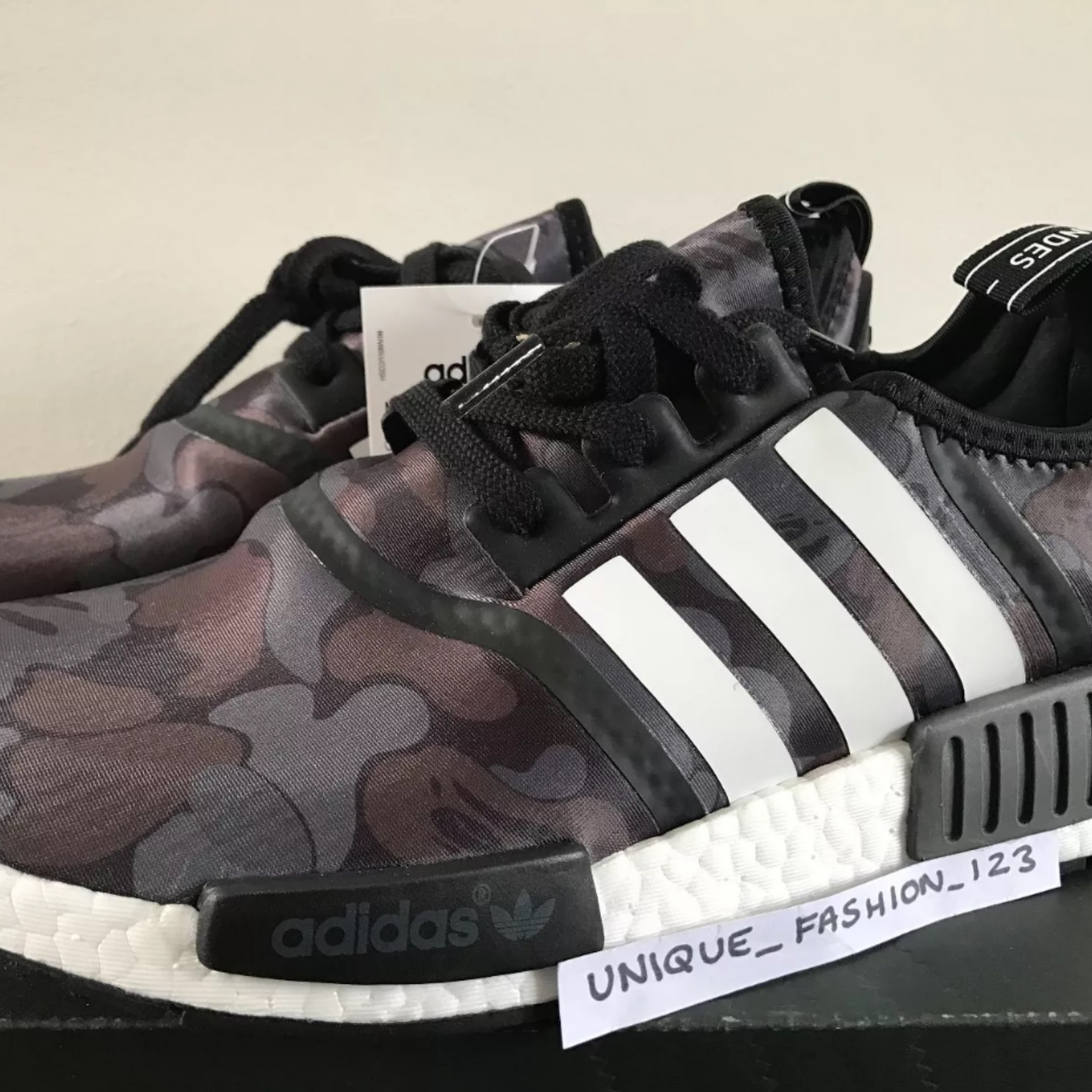 new arrival 86284 5f798 Black Adidas Nmd Bape Trainers