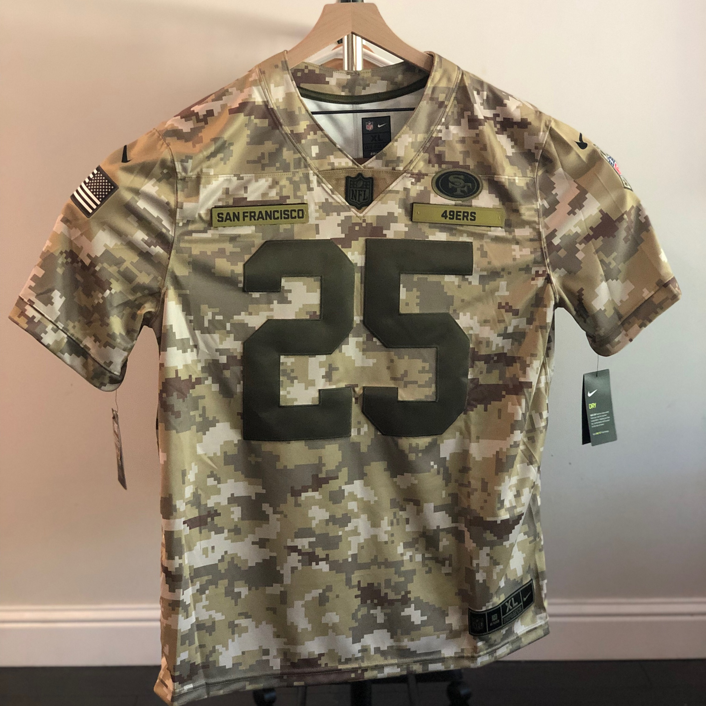 the latest 34d92 d8bd7 Nike Salute To Service Sf 49Ers Sherman Jersey