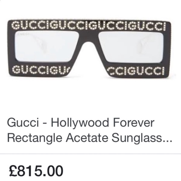 Gucci Hollywood Forever Rectangle Sunglasses