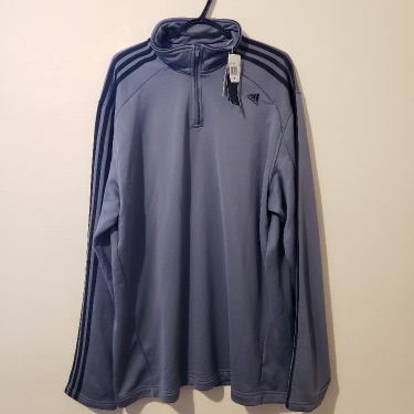 New Vintage Adidas 1/4 Zip Pullover Sweater 2XL